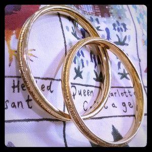 Napier Vintage set of 2 Gold Bracelets